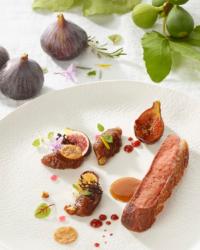 Magret de canard rôti aux figues